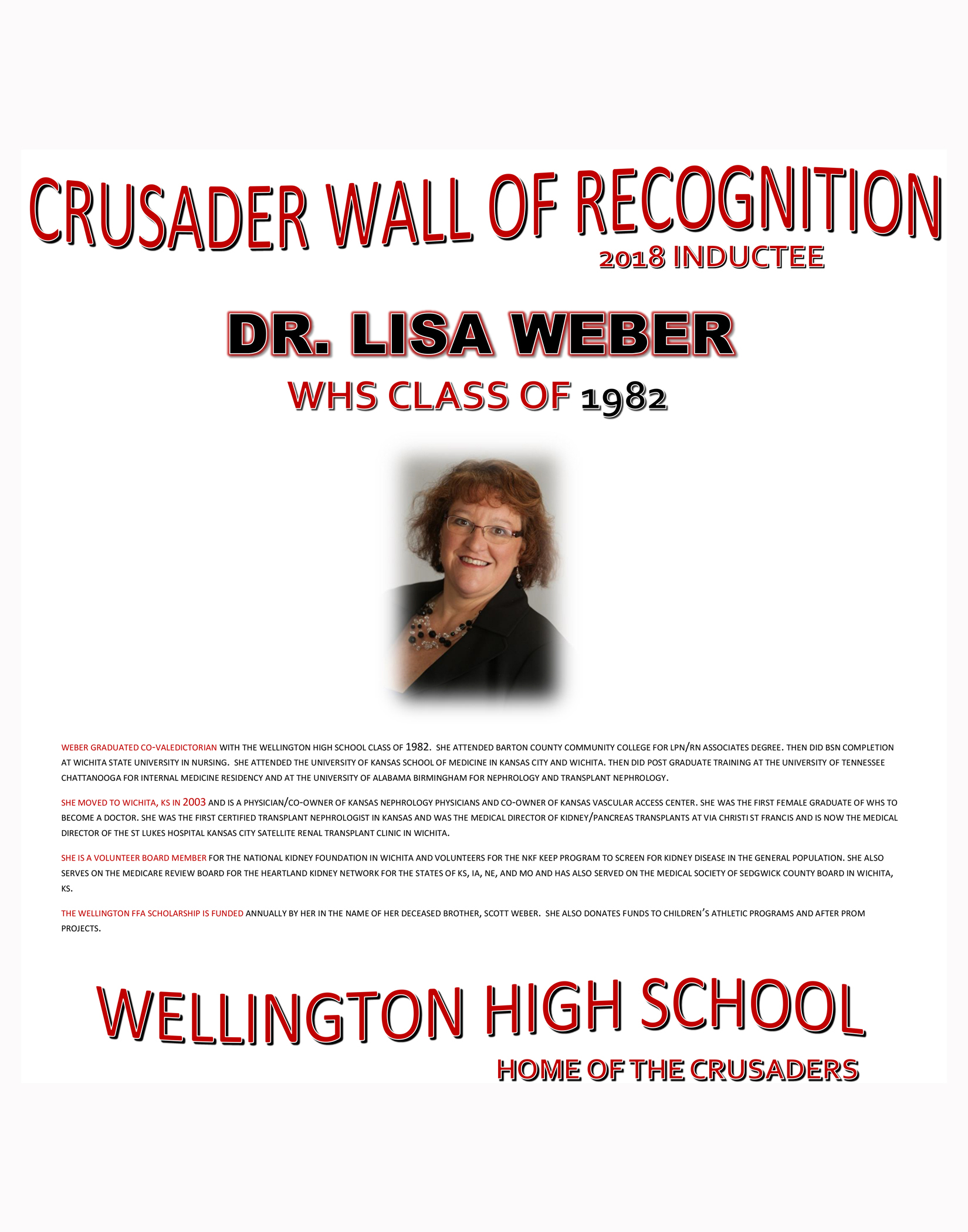 Crusader Wall of Recognition | USD 353 - Wellington Ks
