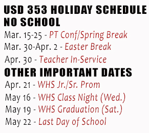 Holiday Schedule USD 353