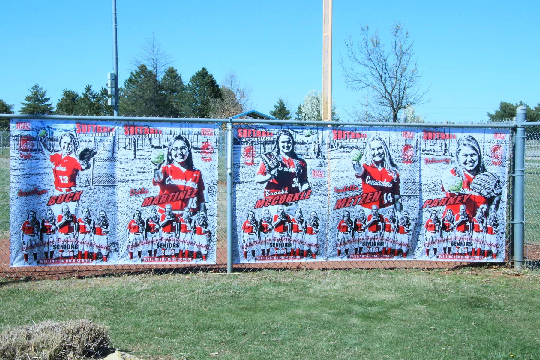 Lady Crusader Softball Banners 2019