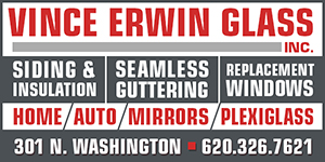 Vince Erwin Glass Advertisement