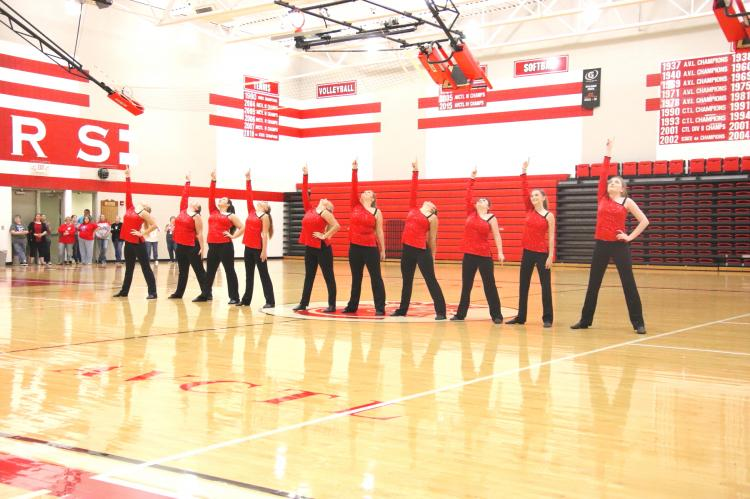 WHS Pep Rally - Crimson Dancers