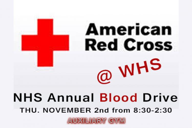 NHS Blood Drive @ WHS NOV 2nd