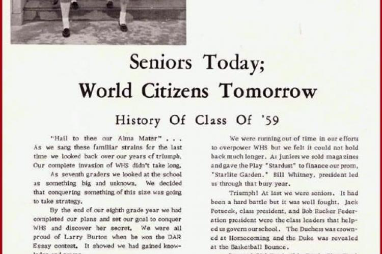 WHS Class of 1959