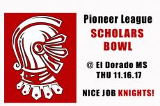 Pioneer League Scholars Bowl Fall 2017